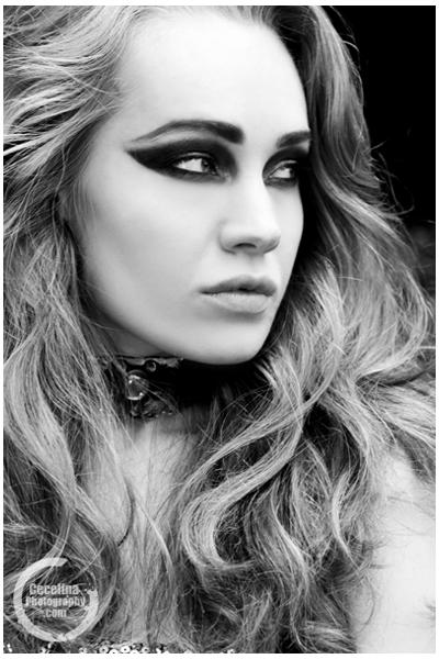 Fashion photoshoot on black white model make up jewellery fashion photoshoot